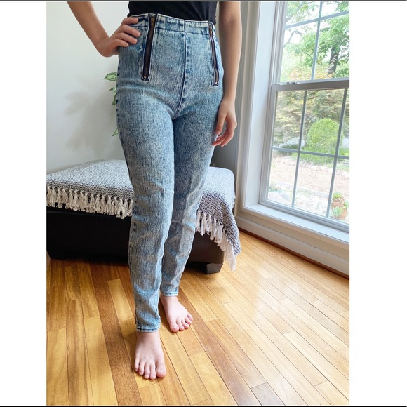 Vintage 80/'s Acid Wash Skinny Jeans